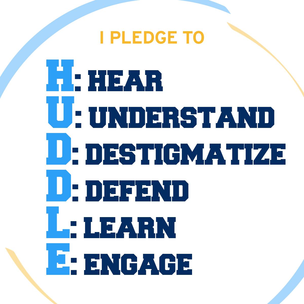 I pledge to huddle